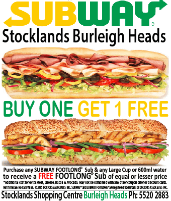 Subway Stocklands Burleigh Heads