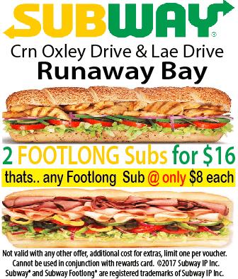 Subway Runaway Bay