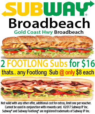 Subway Broadbeach